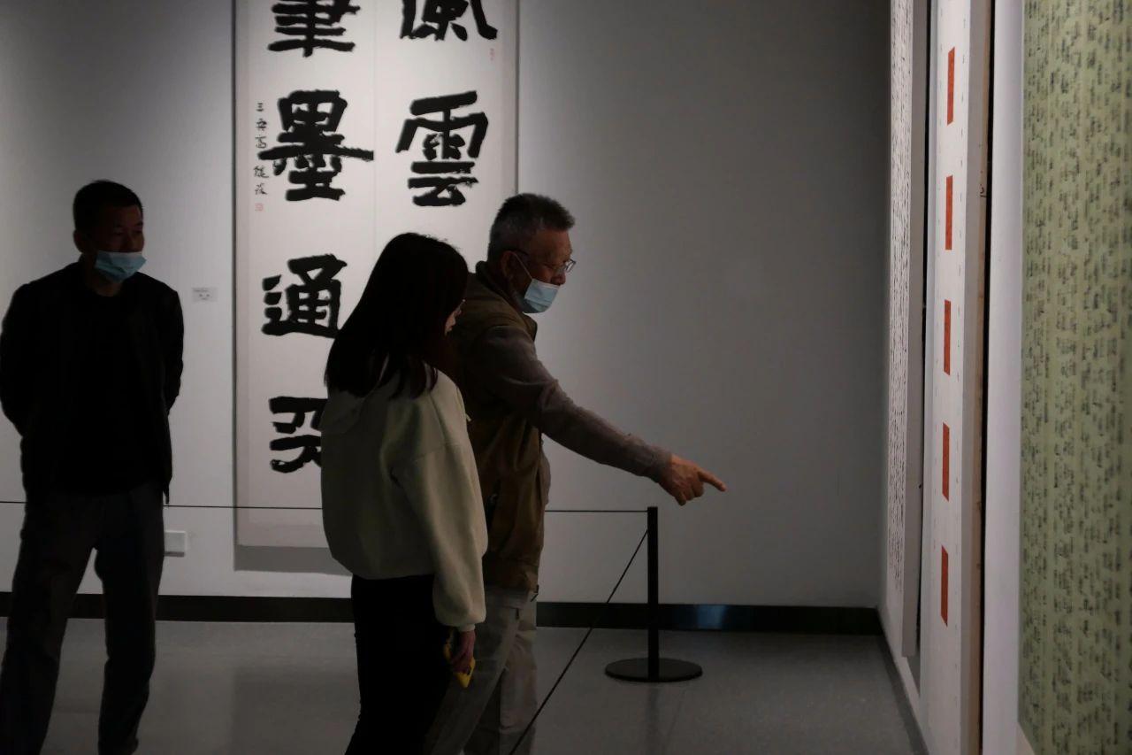 展览现场   云起新湖南 墨舞大洋河——第二届湖南省中青年书法大展岳阳巡展